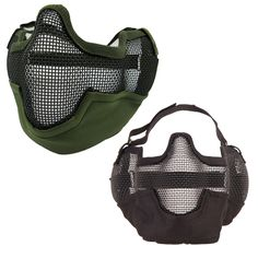 Outdoor Windproof Hat Multifunctional Airsoft Paintball Mesh Protecting Mask Half Face Protect with Ears Anti-terrorism Bilayer #jewelry, #women, #men, #hats, #watches, #belts, #fashion