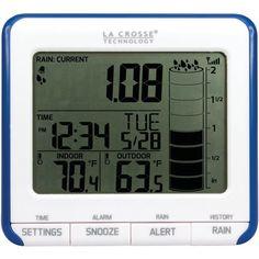 La Crosse Technology Digital Rain Gauge Outdoor Temperature Sensor Cups Weather #LACROSSETECHNOLOGY