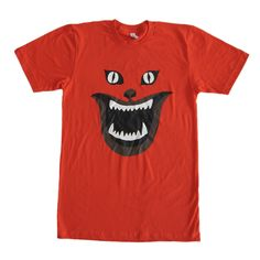 """Fitted, lightweight cotton T-shirt for a streamlined, modern look.  Impress your friends and intimidate your enemies with this spooky homage to the 1977 Japanese horror classic <i>House,</i> directed by Nobuhiko Obayashi. Shirt designed by Sam's Myth.  Printed in three colors on an <a href=""""http://www.americanapparel.com/en/fine-jersey-crewneck-t-shirt_2001"""">American Apparel fine 100% jersey cotton shirt</a>.  For more infor..."""