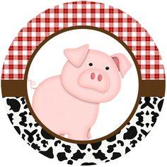 La Granja Bebés: Wrappers y Toppers para Cupcakes para Imprimir Gratis. Farm Animal Cupcakes, Farm Animal Party, Farm Animal Birthday, Barnyard Party, Cowboy Birthday, Farm Birthday, Farm Party, Birthday Party Themes, Cowboy Theme Party