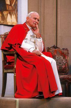 """Pope John Paul II visiting the parish of San Luigi Gonzaga. News Photo - Getty Images Catholic Art, Catholic Saints, Roman Catholic, Paul 2, Pope John Paul Ii, Pape Jeans, Juan Pablo Ll, Proof Of Love, Saint John"