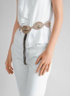 cinturon tejido en crochet.....hermoso!