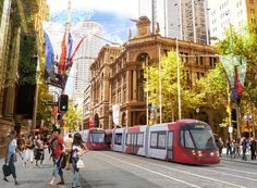 The proposed light rail in Martin Place, Sydney.