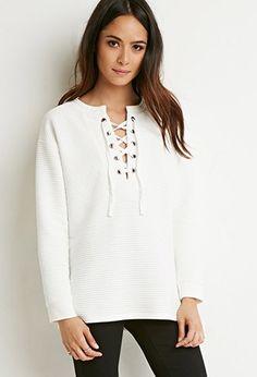 Camisa acolchada con cordones | Forever 21 - 2000142713