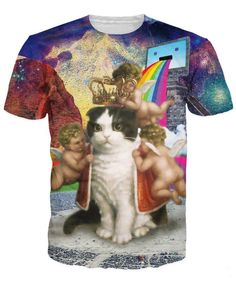 3a9762fd2 King of the Internet T-Shirt Cherubs and ancient rainbows sick vibrant tee  Animal Cat Women Men t shirt Plus Size