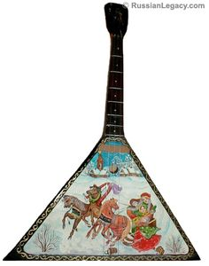 Balalaika [bah-lah-'lah-i-kah] is probably the most famous out of all Russian folk music instruments.