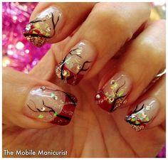 Winter Forest by mblmani - Nail Art Gallery nailartgallery.nailsmag.com by Nails Magazine www.nailsmag.com #nailart