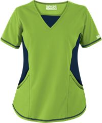 Butter-Soft Scrubs by UA™ V-Neck Scrub Top with Stretch Knit Panels