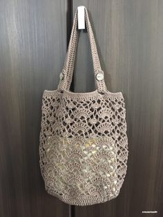 Hand knitted handbag patterns Hand knitted bags patterns - Knittting Crochet - Knittting Crochet Always wanted to discover how to knit, although uncer. Bag Crochet, Crochet Market Bag, Crochet Handbags, Crochet Purses, Knitting Blogs, Knitting Patterns, Crochet Patterns, Free Knitting, Macrame Patterns