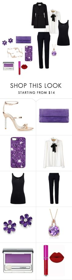 """""""In charge"""" by kiki-167 ❤ liked on Polyvore featuring Sophia Webster, Nancy Gonzalez, Marc by Marc Jacobs, WithChic, Juvia, Benetton, Kevin Jewelers, RelavenO and Clinique"""