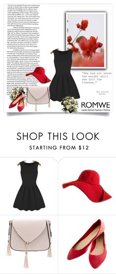 """""""Romwe 8/III"""" by nermina-okanovic ❤ liked on Polyvore featuring GUINEVERE, Wet Seal and romwe"""