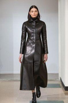women Genuine Lambskin Leather Celebrity vintage Coat Dress Plus Size Custom Made Long Leather Coat, Lambskin Leather, Leather Jacket, Vintage Coat, Vintage Leather, Leder Outfits, Leather Dresses, Coat Dress, Dress Skirt
