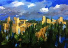 Acrílico sobre lienzo.  #degranero #cursos #dibujo #pintura #fotografia #madrid #clases #academia #taller #arte #bellasartes #grafito #aprenderadibujar #aprenderapintar #aprenderahacerfotografías #art #draw #paint #photograph #artclass www.degranero.es