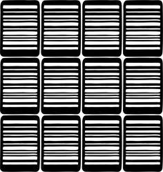 Bar-code Nail Art Vinyl Decal Sticker Stencil