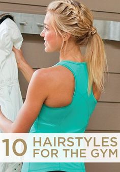 These has got it all - plaits, buns, hair bands. All great ideas for the gym or any form of exercise for that matter!