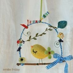this is so cute. i love the bird and all the whimsy of this piece.