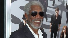 Actor doesn t even wear a veil to protect himself because, clearly, all living things love Morgan Freeman.