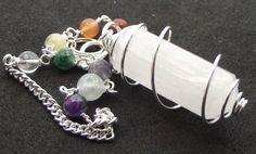 Rare-Selenite-Chakra-Double-Terminated-Point-Gemstone-Crystal-Pendulum