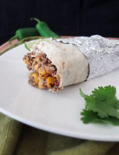 potato & black bean frozen burritos-- make in bulk and stick in the freezer for convenience!