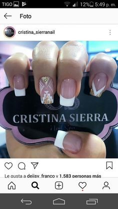 Get Nails, Love Nails, Hair And Nails, French Acrylic Nails, French Nails, Bling Nails, Glitter Nails, Precious Nails, Transparent Nails