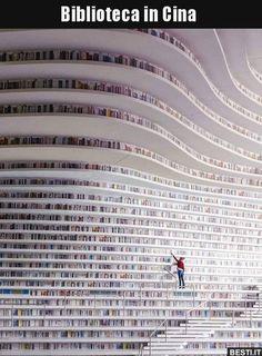 Tianjin Binhai Library Design By MVRDV + Tianjin Urban Planning and Design Institute Photo by Ossip van Duivenbode architecture Tianjin, Beautiful Library, Dream Library, Library Books, Future Library, Library Architecture, Condominium Architecture, Revit Architecture, Architecture Photo