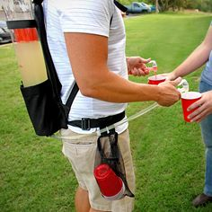 Tailgater Dual Tank Backpack Drink Dispenser. I can't believe I don't own this.