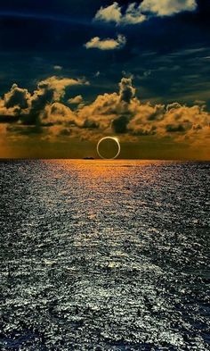 Solar eclipse on the south Pacific