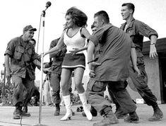Raquel Welch - South Vietnam 1967 Bob Hope - Sixties retro miniskirts show dance