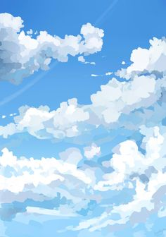 Background challenge day Because I love drawing clouds Digital Painting Tutorials, Digital Art Tutorial, Sky Aesthetic, Aesthetic Anime, Aesthetic Backgrounds, Aesthetic Wallpapers, Ciel Art, Arte 8 Bits, Arte Indie