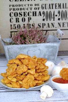 Chipsy z pieczarek