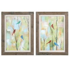 Uttermost Birds Of Spring Hand Painted Art, S/2