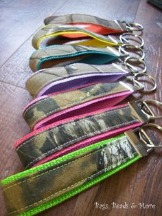 Camo Keychain, Key Wristlet made from Mossy Oak or Realtree Fabric on Etsy, $5.00
