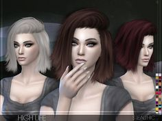 Stealthic: High Life hairstyle - Sims 4 Hairs - http://sims4hairs.com/stealthic-high-life-hairstyle/