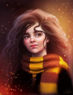 My faveeeeeee fanart of Hermione so far 😍😍Credits to Sandramalie Magia Harry Potter, Cute Harry Potter, Mundo Harry Potter, Harry Potter Artwork, Harry Potter Drawings, Harry Potter Wallpaper, Harry Potter Universal, Harry Potter Characters, Harry Potter World