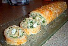 Нежный закусочный рулет для любителей кальмаров