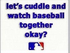 Seriously though. My guy has to like baseball. Baseball Quotes, Baseball Games, Baseball Mom, Baseball Stuff, Baseball Girlfriend, Baseball Couples, Basketball Scoreboard, Softball Stuff, Soccer