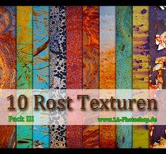 Pack III - mit 10 schönen Rosttexturen  The free rust textures you can download it here:  http://www.1a-photoshop.de/news/10-rost-texturen-bilder-pack-iii-gratis-downloaden/