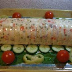Gazdag hússaláta őzgerincformában Recept képpel - Mindmegette.hu - Receptek Sushi, Ethnic Recipes, Food, Google, Essen, Meals, Yemek, Eten, Sushi Rolls