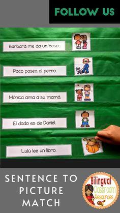 Bilingual Classroom, Bilingual Education, Classroom Language, Kindergarten Literacy, Classroom Activities, Literacy Centers, Spanish Lessons, Teaching Spanish, Spanish Language