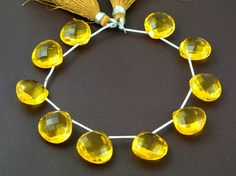 10Pcs 5 Matched Pair AAA Yellow Quartz Faceted by RareGemsNJewels, $31.99