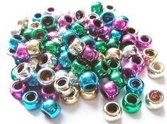Rainbow Creations Metallic Pony Beads
