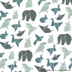 Origami animals #pattern