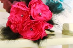 hot pink wedding flowers from Mark the Occasion Designs