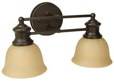 Craftmade 19812OB2 2 Light LiteRail Bathroom Light by Craftmade. $50.35. Finish:Oiled Bronze, Glass:Tea-Stained, Light Bulb:(2)100w A19 Med F Incand Lite Rail 2 Light Vanity Sconce.    Nickel-plated copper socket threads resist rusting.  150 degree Celsius wiring resists heat deterioration.  Alabaster glass included.