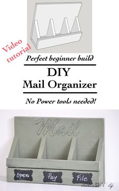 Wow!! This Mail Organizer is so easy to make! It is a great beginner woodworking project! No power tools needed either!