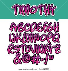 Vector of modern comical font and alphabet, purple, comics style alphabet collection set Doodle Alphabet, Hand Lettering Alphabet, Alphabet Design, Doodle Lettering, Calligraphy Letters, Lettering Design, Bullet Journal Writing, Bullet Journal School, Aesthetic Fonts