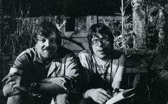 Stephen King et Romero sur le tournage de Creepshow, George A. Romero, 1982.