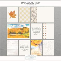 Little Lamm & Co Digital Maplewood Park  Pocket by littlelammco