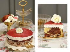 Piroska torta! Csokis és fehér kevert piskóta, meggyel megszórva. Egyszerű ízek, amik így tökéletesek. Ez az a torta, amit akár otthon is süthettél volna, és nem lesz olyan a családban, aki ne szeretné megkóstolnI!