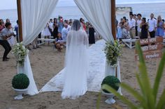 beach wedding valentines day bride lace dress entrance entourage